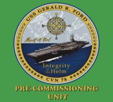 PCU Gerald R. Ford (CVN-78) Crest for Dark Colors Kids Tee