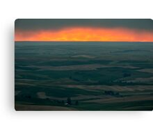Sunset Over the Palouse Canvas Print