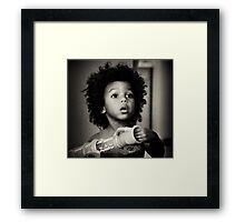 Young African American Boy Framed Print