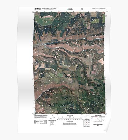 USGS Topo Map Washington State WA Cahill Mountain 20110421 TM Poster