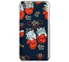 Cute Christmas Kittens In Mittens iPhone Case/Skin