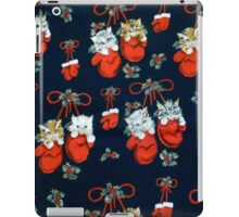 Cute Christmas Kittens In Mittens iPad Case/Skin