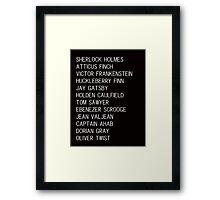 Classic Heroes 2 Framed Print