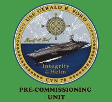 PCU Gerald R. Ford (CVN-78) Crest Kids Tee