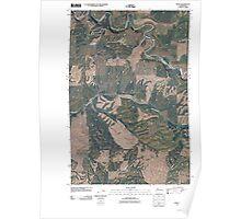 USGS Topo Map Washington State WA Thera 20110406 TM Poster