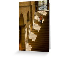 Woman in the shadows of the Pantheon, Paris Greeting Card