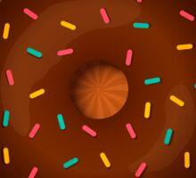chocolate donut on hypnotic background Sticker
