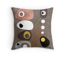 Simple shapes grey abstract retro 50s Throw Pillow