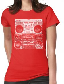 Boomboxes Art by Bill Tracy Womens Fitted T-Shirt