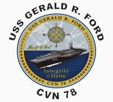 USS Gerald R. Ford (CVN-78) Crest by Spacestuffplus