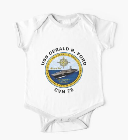 USS Gerald R. Ford (CVN-78) Crest One Piece - Short Sleeve
