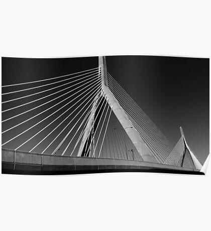 Charles river bridge, Boston, Massachusets Poster