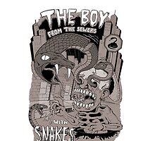 Boy from the sewer with snakes for eyes by allanohr