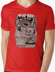 Boy from the sewer with snakes for eyes Mens V-Neck T-Shirt