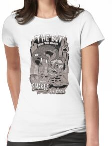Boy from the sewer with snakes for eyes Womens Fitted T-Shirt