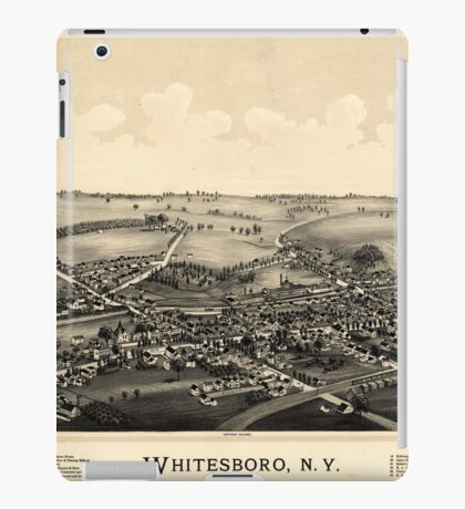 Panoramic Maps Whitesboro NY iPad Case/Skin