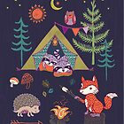 Woodland Animals Campout by Janet Broxon