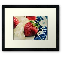 For the Love of Strawberries Framed Print