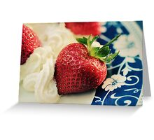 For the Love of Strawberries Greeting Card