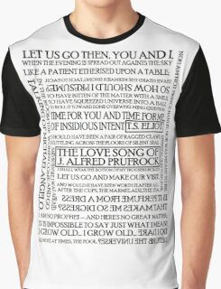 The Love Song of J. Alfred Prufrock Graphic T-Shirt