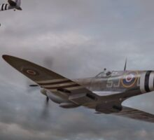 126 Squadron Spitfires Sticker