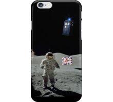 Doctored Moon Landing | Black Ink iPhone Case/Skin