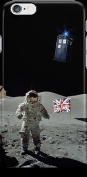 Doctored Moon Landing | Black Ink by geekchic  tees