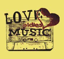 Vintage Love oldies music One Piece - Short Sleeve