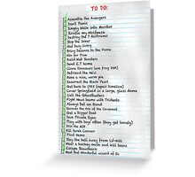 My busy Movie 'to do' list Greeting Card
