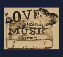Vintage Love oldies music #2 Baby Tee