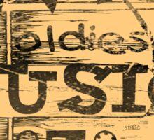 Vintage Love oldies music #2 Sticker