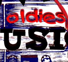 Vintage Love oldies music #3 Sticker