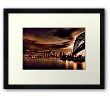 Harbour Bridge HDR Variation Framed Print