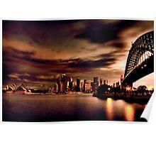 Harbour Bridge HDR Variation Poster