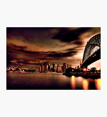 Harbour Bridge HDR Variation Photographic Print