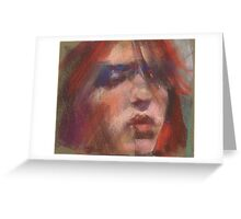 a small face study Greeting Card