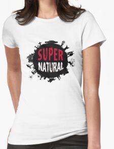 Supernatural World dark Womens Fitted T-Shirt