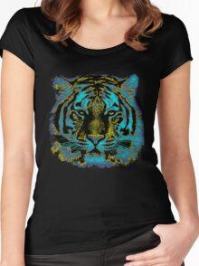 Vintage Tiger Fine Art Women's Fitted Scoop T-Shirt