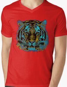Vintage Tiger Fine Art Mens V-Neck T-Shirt