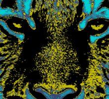 Vintage Tiger Fine Art Sticker