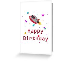Happy Birthday starship Greeting Card