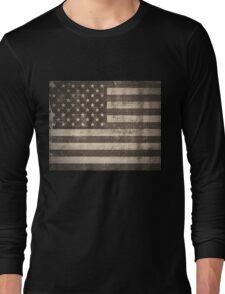 Vintage American Flag Long Sleeve T-Shirt