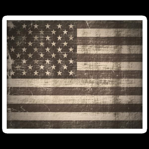 Vintage American Flag by Nhan Ngo