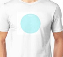 Wire Globe Full Blue White Backgound Unisex T-Shirt