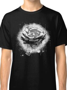 Vintage Black and White Rose Fine Art Classic T-Shirt