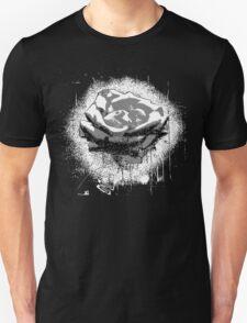 Vintage Black and White Rose Fine Art Unisex T-Shirt