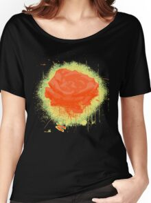 Vintage Red Rose Fine Art Tshirt Women's Relaxed Fit T-Shirt