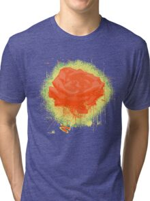 Vintage Red Rose Fine Art Tshirt Tri-blend T-Shirt