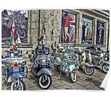 Mod scooters and 60s fashion Poster