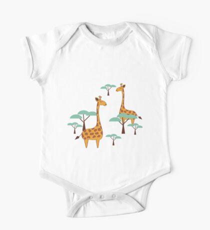 Giraffes One Piece - Short Sleeve